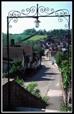 The village of Kersey in  Suffolk. England by Howard Somerville B. Lowe