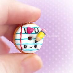 In the spirit of winter break being over and School starting plus the fact that Valentine's Day is right around the corner....I have this little love note for y'all! Thank you for all the follows and support! #fimo #fimocharms #fimocharm #polymerclay #polymerclayjewelry #polymerclaycharms #polymerclayart #kawaii #kawaiicute #cute #kawaiicharms #kawaiiart #handmade #diy #donuts #lovenotes