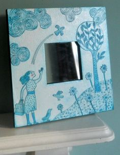 I checked out Illustrated Mirror on Lish, £35.00