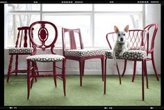 upcycled mismatched dining room chairs