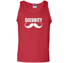 Funny Security t-shirt for Men or Boys with Retro Mustache