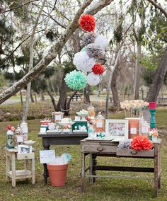 Sweetheart Themed Birthday Party in Aqua and Coral