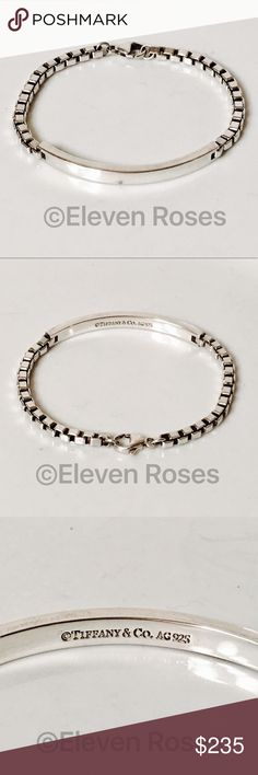 Tiffany & Co 925 Venetian Chain Link ID Bracelet Tiffany & Co. Venetian Chain Link ID Bracelet - 925 Sterling Silver - Exact Size As Shown - Preowned / Preloved   May Show Slight Signs Of Having Been Worn.     Listing Images Are Of Actual Item Being Offered Tiffany & Co. Jewelry Bracelets