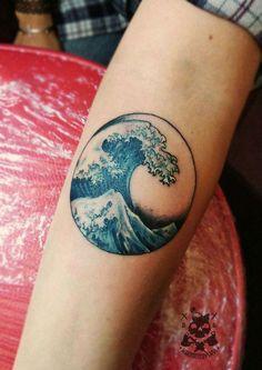 Interesting Waves Tattoo Designs - New Tattoo Designs - Interesting waves tattoo designs women # tattoo wrist ideas - Rn Tattoo, Tattoo Life, Piercing Tattoo, Tattoo You, Indie Tattoo, Armband Tattoo, Tattoo Thigh, Ear Piercings, Band Tattoos