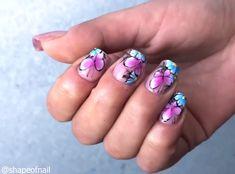 TRANSFORMATIONS One of the greatest nail transformation you will see todayOne of the greatest nail transformation you will see today Great Nails, Fun Nails, Stylish Nails, Trendy Nails, Nail Designs Spring, Nail Art Designs, Nail Selection, Nail Art Blog, Acrylic Nail Art