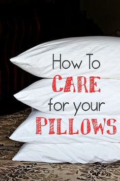 If your pillow has turned yellow with built-up sweat and age, you can make it look clean again Even if you use pillow COVERS underneath your pillow cases.