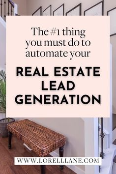 Stop the mindless hustle and start bringing in leads - even in the middle of a pandemic - to get your side hustle up and running. This #1 tip for real estate lead generation is vital to reaching your target audience and converting them. A lot of real estate agents get this wrong. Grab this opportunity to learning how you can quickly apply this to your business.