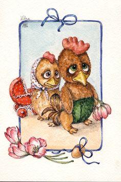 по мотивам работ Светланы Каракулевой акварель открытка мишки тедди watercolor postcard teddy toys