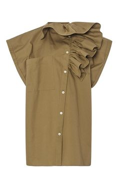 Ruffled Asymmetric Blouse by TOME for Preorder on Moda Operandi
