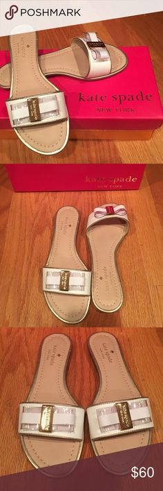 Kate Spade 'Alicia' Sandals Kate Spade 'Alicia' bow sandals. Great to slip on and go! Kate Spade Shoes Sandals