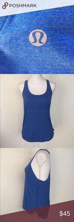 🆕 Lululemon Athletica Blue Racerback Tank, S This cute Lululemon Athletica Blue Racerback Tank, S is great for a light workout, outdoor adventure or just running around in. EXCELLENT CONDITION NO DEFECTS no materials tags lululemon athletica Tops Tank Tops