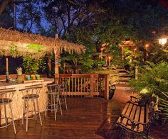 I have seriously always wanted my own Tiki bar in my backyard.