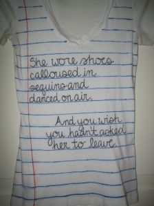 Book quote shirt