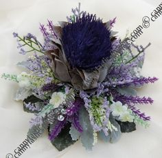 Artificial Thistles For Wedding Cake