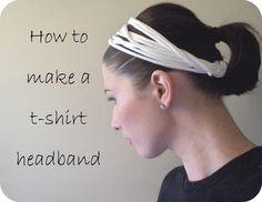 How to Make a T-shirt Headband