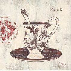 Fine Cup and Saucer Poster di Stefania Ferri su AllPosters.it