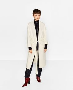 Image 1 of OVERSIZED POCKETS COAT from Zara