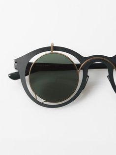7f88b66a5a TRENDING  Round John Lennon inspired sunglasses by Mykita + Damir Doma    Bardfield   forest green Zippertravel.