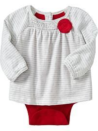 2-in-1 Rosette Bodysuits for Baby