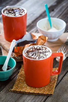 #Vegan, Protein-Rich Hot Chocolate with Peanut Butter Whipped Cream #glutenfree | Keepin' It Kind