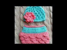 Cubre pañal o braguita a crochet a juego con vestido muy fácil y rápido - YouTube