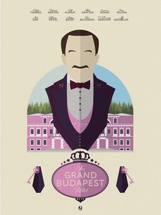 The Grand Budapest Hotel (2014) ~ Minimal Movie Poster by Matt Needle #amusementphile