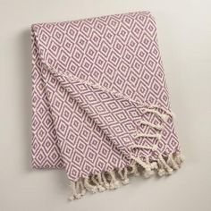 One of my favorite discoveries at WorldMarket.com: Purple Diamond Weave Throw