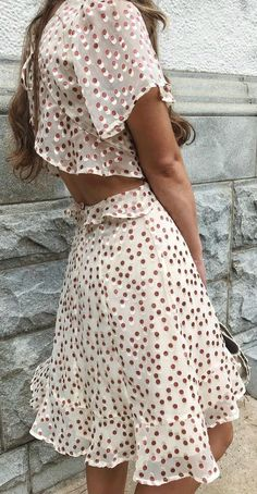 bd35657268b Elsie Cream Polka Dot Backless Dress