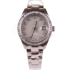 Toy Watch Pewter Me22pw Tw Only Time Metallic Pewter With Stones On ($200) ❤ liked on Polyvore