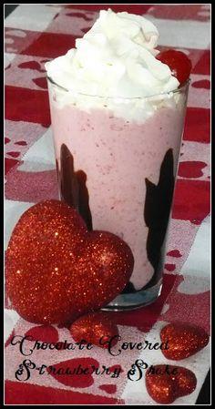 Valentines Day Chocolate Covered Strawberry Milk Shake