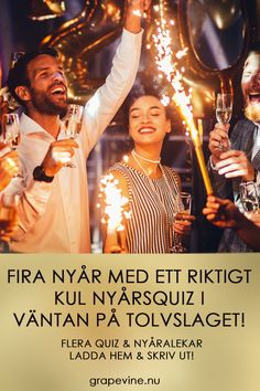 Celebrate New Year's Eve with a nifty quiz while waiting for midnight - Neujahr New Years Party, New Years Eve, Nifty, Waiting, Film, Celebrities, Nyårsfest Tips, Christmas Time, Hacks