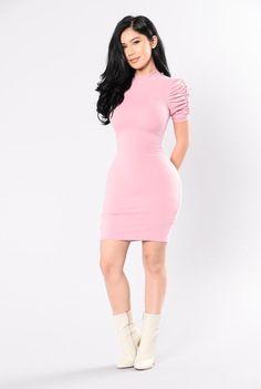 Doll Me Up Dress - Deep Pink