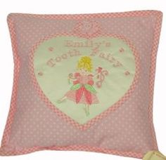 Personalised Tooth Fairy Pillow Girls Christening Gift