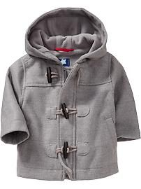 Fleece-Lined Peacoats for Baby