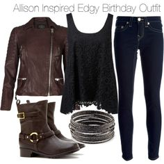 """""""Allison Inspired Edgy Birthday Outfit"""" by veterization on Polyvore"""