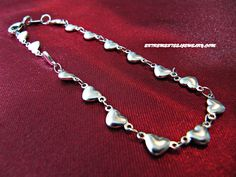 316L Surgical Steel Horizontal Heart Link Chain Bracelet 4mm