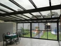Resultado de imagen de terrazas techos policarbonato
