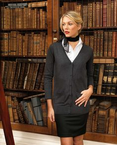 https://www.premierworkwear.com #Knitwear #Cardigan #Corporate #Library #Businesswear #Workwear