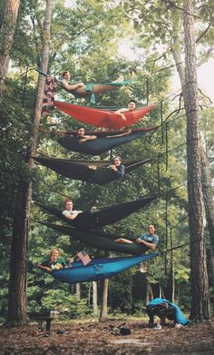 Bunk Bed Camping In Trees. Staying Safe Up In The Trees.