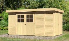 WoodFeeling Gerätehaus / Gartenhaus 19mm Laura 5 natur 404x237cm Bild 1