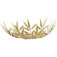 Bamboo Leaf Bowl. Metal is one of the greatest trends for home, outdoor hotel or apartment decor. You should use it in any objects: coould be chandeliers, foot lamps, chairs or another accessories. See more ideas here: http://www.pinterest.com/delightfulll/