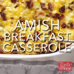 This Easy Breakfast Casserole comes together in no time for a weekend breakfast! Combine eggs with sausage, frozen hashbrown potatoes, and cheese for the ultimate easy breakfast or brunch casserole!