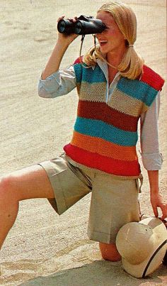 DIY Easy Slip-over Vest Vintage PDF Crochet by MomentsInTwine