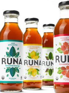 Runa introduced a new logo and unveiled the packaging designed by New York-based Mucca Design.