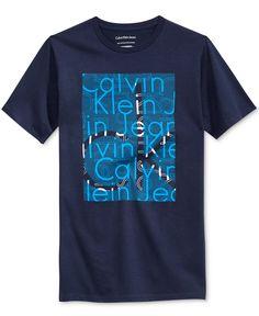 Calvin Klein Boys' Graphic-Print T-Shirt - Shirts & Tees - Kids & Baby - Macy's