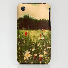 Poppy FlowerSamsung S4 Iphone 3gs 3g 4 4s 5 5c  by secretgardentwo, £23.50