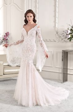 Classy is the New Skimpy: 20 Elegant Long Sleeve Wedding Dress Designs - A long sleeve wedding dress can be both classical and contemporary. A well-fitting choice for your dream wedding, here are some finest designs to start! Wedding Dresses Sydney, Lace Wedding Dress, Gorgeous Wedding Dress, Long Sleeve Wedding, Wedding Dress Styles, Dream Wedding Dresses, Designer Wedding Dresses, Bridal Dresses, Bridesmaid Dresses
