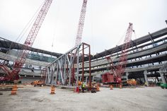 Go inside the @WisconsinESC before the first roof truss is raised http://www.nba.com/bucks/gallery/milwaukee-tool-construction-site-update-roof-trusses-prepared-lift-1