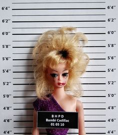 Barbie Gone Bad! Funny Mug Shots: Barbie. Bambi Cadillac Mug Shot by Art-I-Ficial