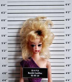 Barbie Gone Bad! Funny Mug Shots: Barbie. Bambi Cadillac Mug Shot by Art-I-Ficial
